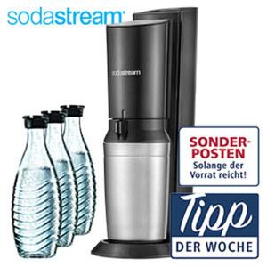 """Sodasystem """"Crystal 2.0"""" - 1 Sodastream Gerät """"Crystal 2.0"""" - 3 Glaskaraffen, je ca. 0,6 Liter Inhalt - 1 CO²-Kohlensäurezylinder"""