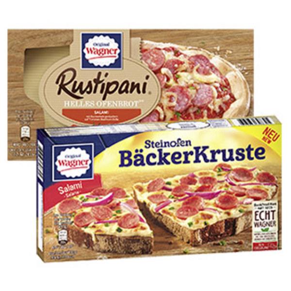 Original Wagner Rustipani oder Steinofen Bäcker Kruste gefroren, jede 170-g-Packung und weitere Sorten