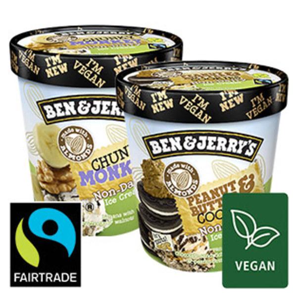 Ben & Jerry ´s Eiscreme Vegan versch. Sorten, jeder 500-ml-Becher