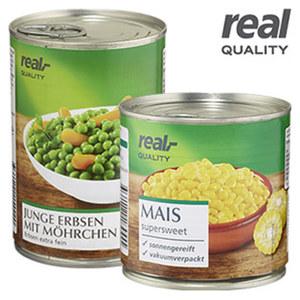 Mais supersweet oder Erbsen mit Möhrchen und weitere Sorten, jede 425-ml-Dose/265/285 g Abtropfgewicht