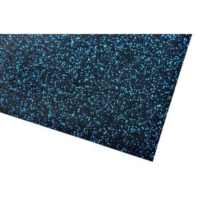 acerto® Unterlegmatte für Fitnessgeräte 150x125cm (8mm) blau