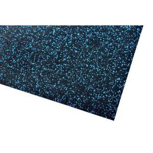 acerto® Unterlegmatte für Fitnessgeräte 100x125cm (8mm) blau
