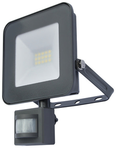 I-Glow LED-Fluter mit Bewegungsmelder, Grau