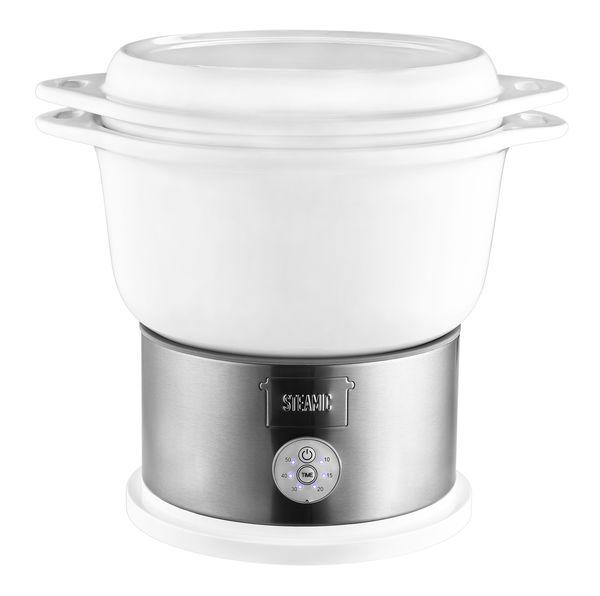 Kalorik Keramik-Dampfgarer TKG DG 1002 Schongarer mit 4,5 Liter Keramikschüssel, BPA-frei