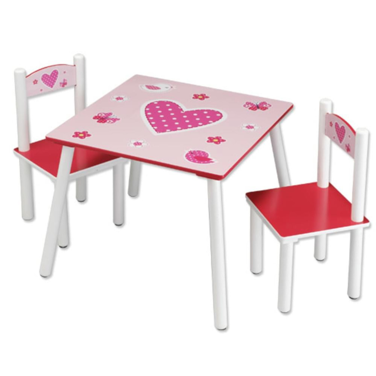 Bild 2 von Kesper Kindertisch mit 2 Stühlen, Herzen - 3er Set