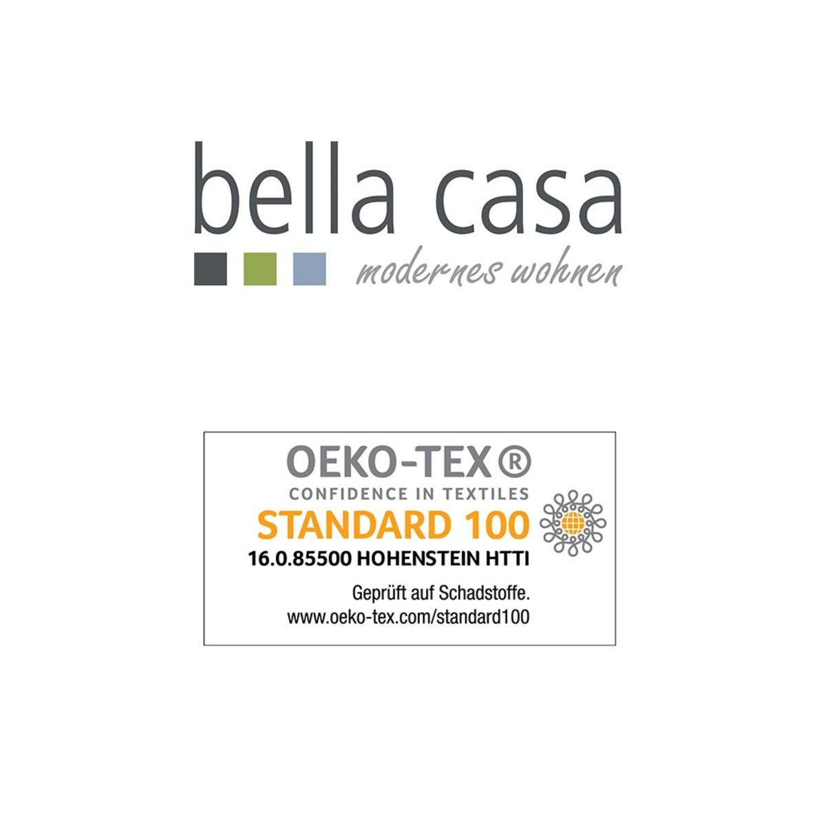 Bild 2 von Bella Casa Coral Sherpa Decke, ca. 150 x 200 cm, Karo Taupe