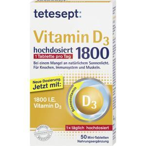 tetesept Vitamin D3 hochdosiert 1.800 50 Mini-Tablette 24.71 EUR/100 g