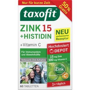 taxofit Zink 15 + Histidin + Vitamin C 60 Tabletten 7.69 EUR/100 g