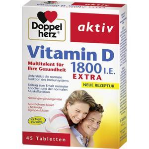Doppelherz Vitamin D 1.800 I.E. Extra 45 Tabletten 27.92 EUR/100 g