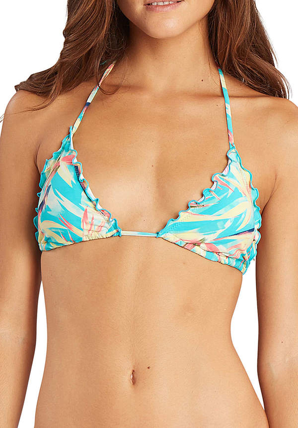 Billabong Paradise Ruffles Triangle - Bikini Oberteil für Damen - Mehrfarbig
