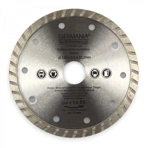 Diamanttrennscheibe 125x2,1x22,2mm Turbo Granit Beton Stein Trennscheibe