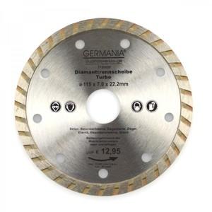 Diamanttrennscheibe 115x2,1x22,2mm Turbo Granit Beton Stein Trennscheibe