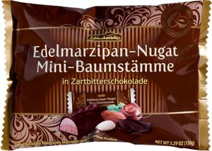 Edelmarzipan m. Nougat in Zartbitterschokolade