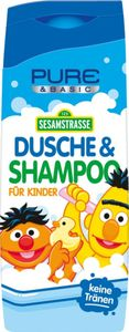 Dusche & Shampoo für Kinder blau