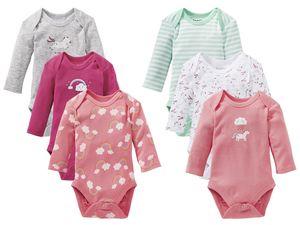 LUPILU® 3 Baby Mädchen Bodys