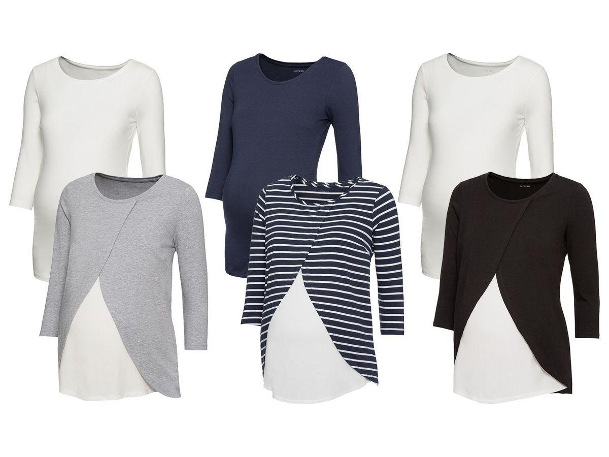 Bild 1 von ESMARA® PURE COLLECTION 2 Damen Umstands-Shirts