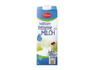 Haltbare fettarme Milch