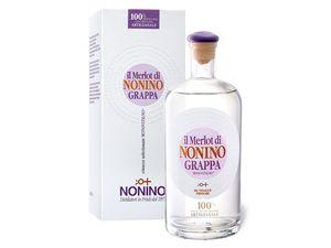 Nonino Grappa Monovitigno il Merlot mit Geschenkbox 41% Vol