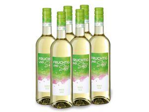 6 x 0,75-l-Flasche Weinpaket Fruchtig und Süß QbA Baden, Weißwein