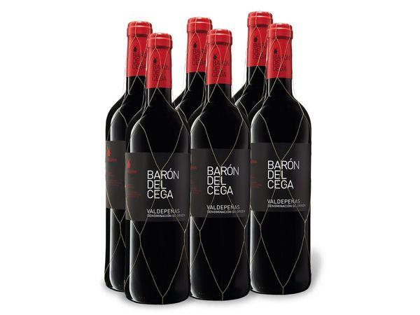 6 x 0,75-l-Flasche Barón del Cega Reserva, Rotwein