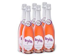 6 x 0,75-l-Flasche Purple Heron Sparkling Wine Rosé süß, Schaumwein