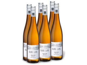 6 x 0,75-l-Flasche Weinpaket Weingut Hans Lang Rheingau Riesling Classic VDP, Weißwein