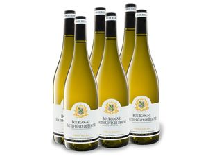 6 x 0,75-l-Flasche Weinpaket Cellier de Saint Jean Hautes Cotes de Beaune Bourgogne AOP trocken, Weißwein