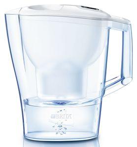Brita Wasserfilter Aluna Memo mit  weißem Deckel, Gesamtvolumen 2,4 l, gefiltertes Wasser 1,4 l