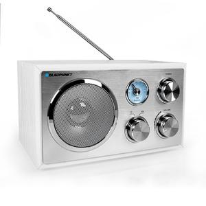 BLAUPUNKT RXN 18 Retro Design Radio mit Analog Tuner Holzdesign Küchenradio Weiß