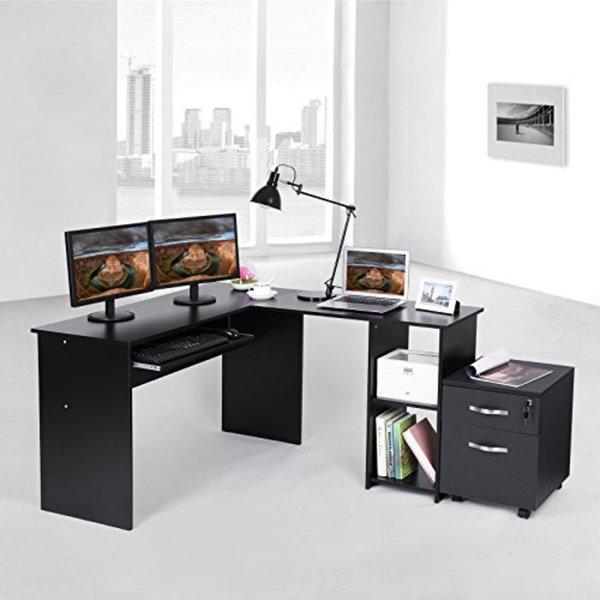 Songmics Computertisch Großer Schreibtisch 140 X 120 Cm Stabiler