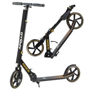 Apollo XXL Wheel Cityscooter  - Phantom Pro Gold, Cityroller Scooter klappbar und höhenverstellbar, Kickscooter für Erwachsene und Kinder