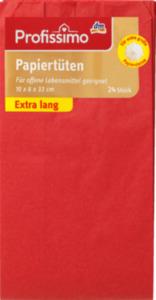 Profissimo Papiertüten rot extra lang