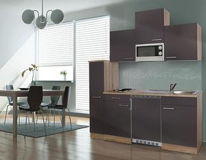respekta Economy Küchenblock 180 cm, grau ESKM