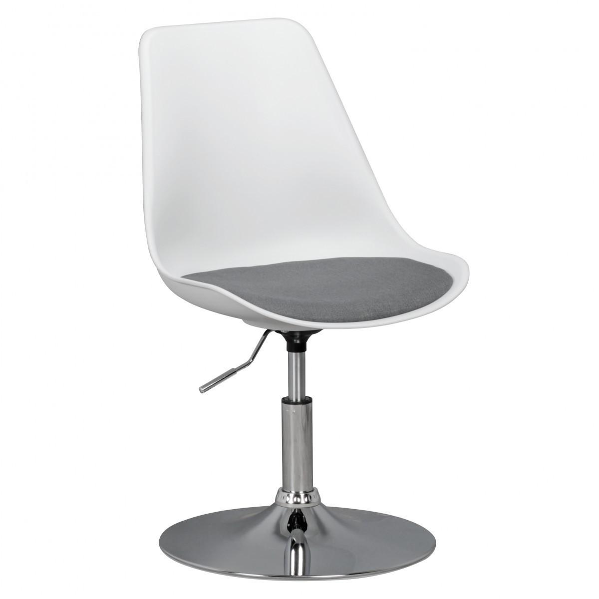 Bild 1 von AMSTYLE KORSIKA | Drehsessel Esszimmerstuhl Weiß/Grau | Drehstuhl höhenverstellbar | Drehhocker Wart