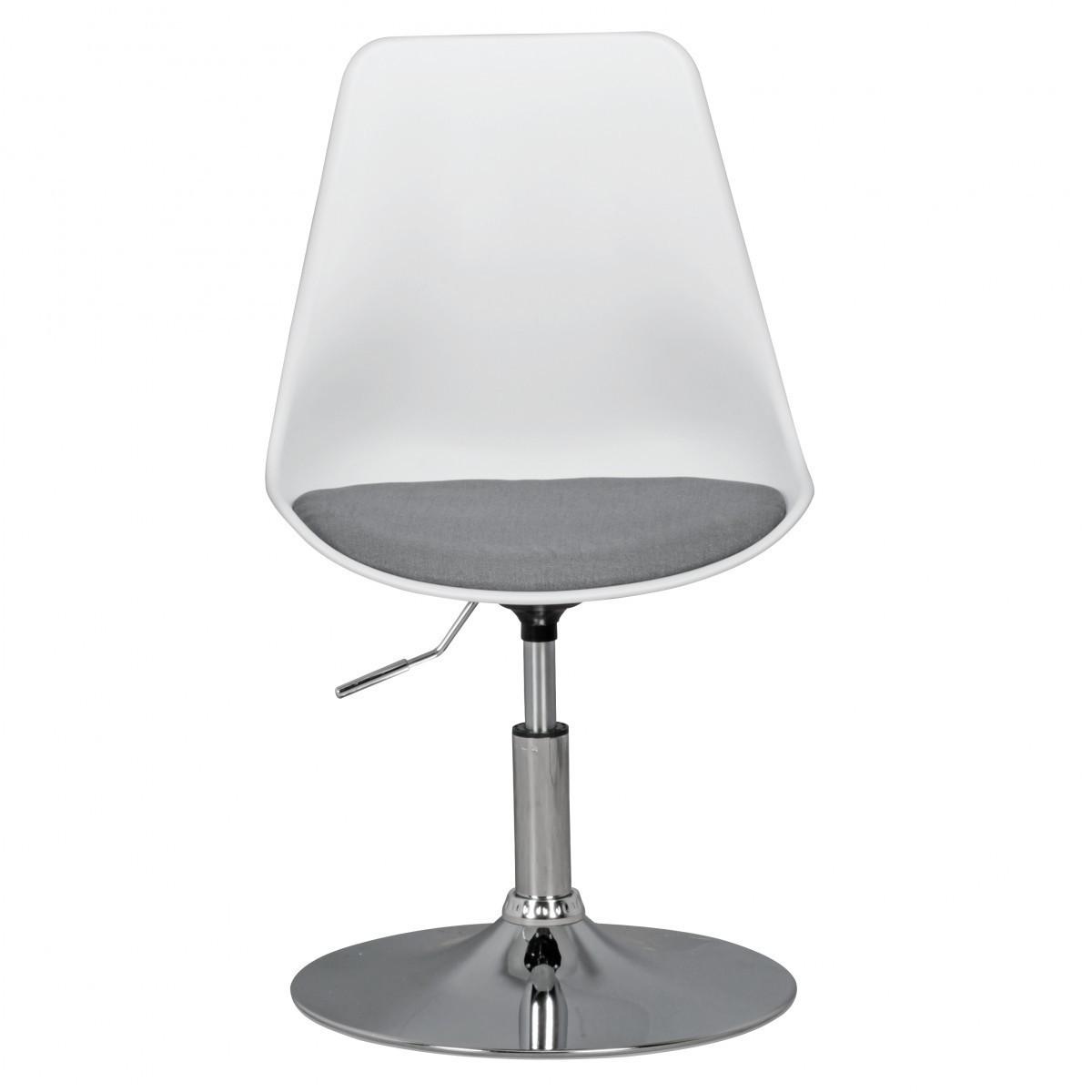 Bild 3 von AMSTYLE KORSIKA | Drehsessel Esszimmerstuhl Weiß/Grau | Drehstuhl höhenverstellbar | Drehhocker Wart