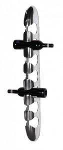 Wohnling Design Weinregal für 7 Flaschen zur Wandmontage aus Aluminium silbern