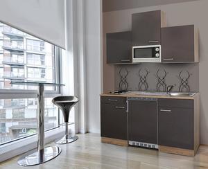 respekta Economy Küchenblock 150 cm, grau ESKM