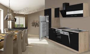 respekta Economy Küchenblock 310 cm, schwarz