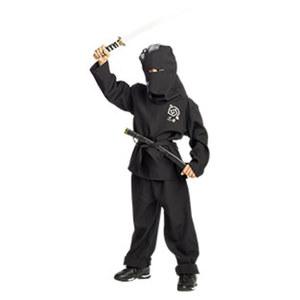 Kinderkostüm Ninja Größe: 128 - 152 (o. Schwert)
