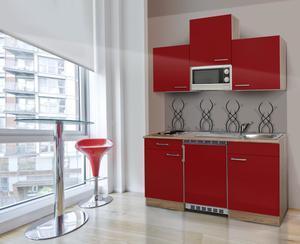 respekta Economy Küchenblock 150 cm, rot ESKM