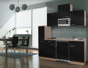 respekta Economy Küchenblock 180 cm, schwarz ESKM
