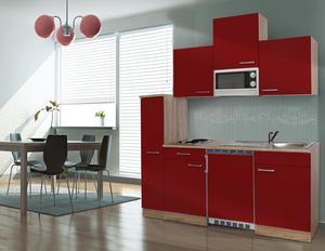 respekta Economy Küchenblock 180 cm, rot ESKM