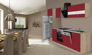 respekta Economy Küchenblock 280 cm, rot
