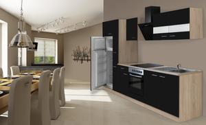 respekta Economy Küchenblock 300 cm, schwarz