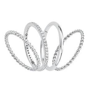 s.Oliver             Ring 925 Sterling Silber mit Zirkonia 2015038