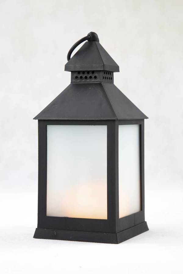 LED Laterne mit Flammeneffekt, 23 cm