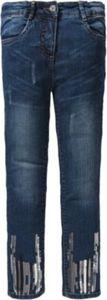 Jeans Skinny Fit mit Glitzersteinen , Bundweite REGULAR Gr. 128 Mädchen Kinder