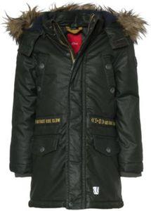 Wintermantel mit abnehmbarer Kapuze und Kunstfellkragen Gr. 104 Jungen Kleinkinder