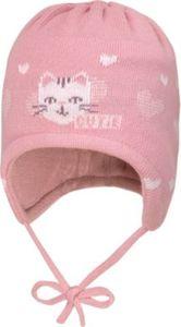 Baby Mütze zum Binden , Katze Gr. 45 Mädchen Baby