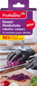 Profissimo Einmal- Handschuhe latexfrei schwarz